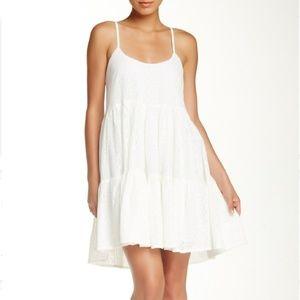 WALTER BAKER tiered Davis dress white lace mini